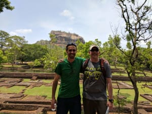 matt and jay in sri lanka on a work-related trip