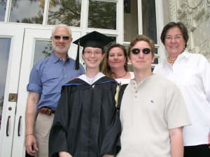 The graduate with family and Douglas Burnette