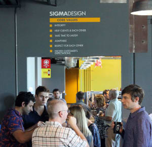 The SIGMADESIGN core values are visible in every part of our office.