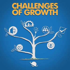 Visual sketch of a tree depicting challenges of growing a business