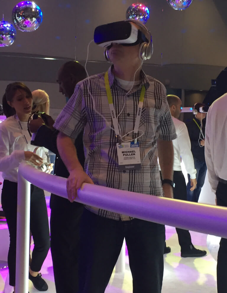 Mechanical Engineer, Mike Pullen in VR land.