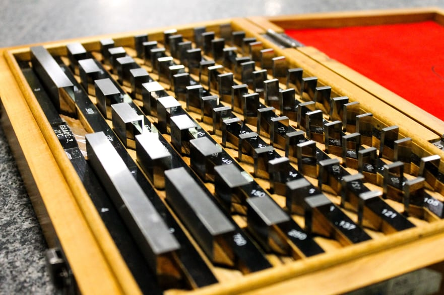 Gauge Blocks used to measure linear dimension