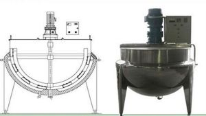 Steam Jacketed Starch Paste Kettle