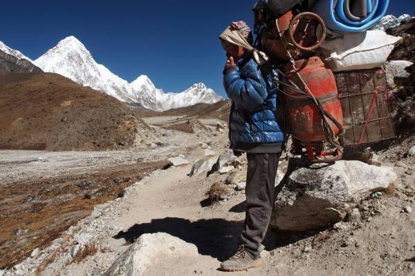 Trekking al campo base dell'Everest