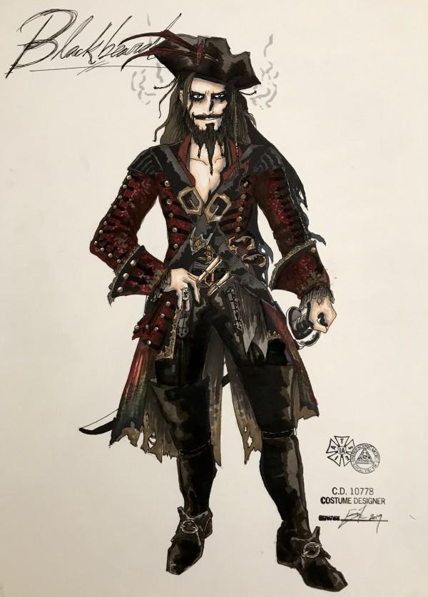 Blackbeard costume rendering