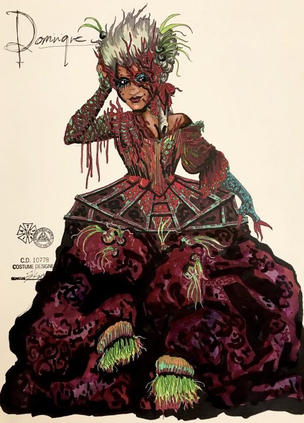 Dominique costume rendering