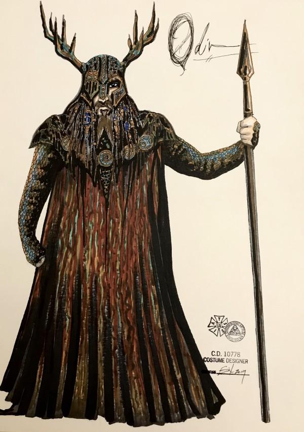 Odinn costume rendering