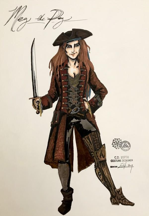 Meg the Peg costume rendering