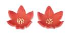 MARSIPANBLOMST - Rød poinsetta a'72stk