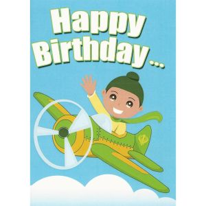 Happy Birthday Card - Singh Aeroplane