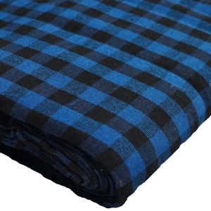 Gingham Black and Blue Parna (Turban)