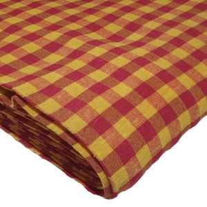 gingham red and yellow