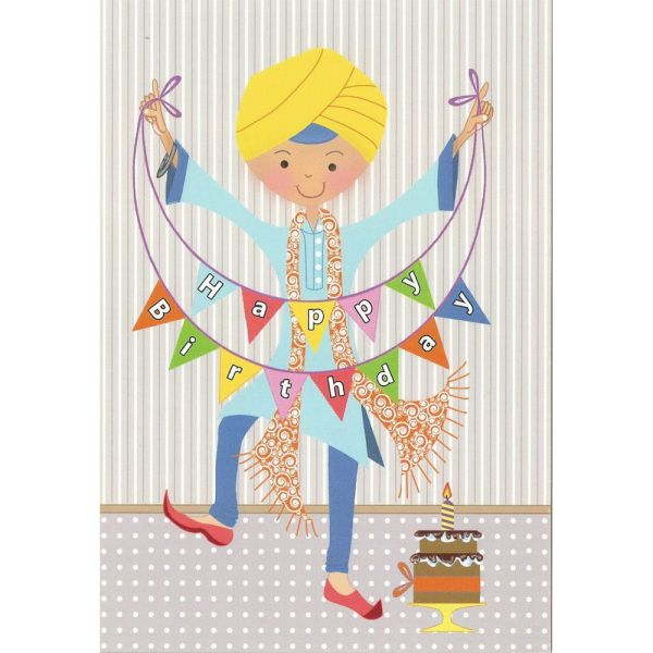 Happy Birthday Card – Singh Bunting 1