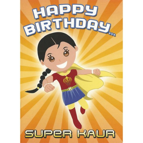 Happy Birthday Card – Super Kaur 1
