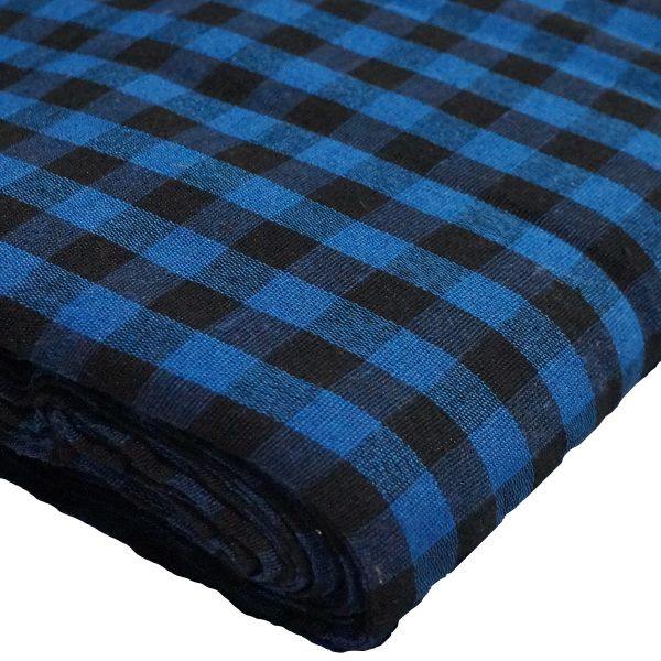 Gingham Black and Blue Parna (Turban) 1