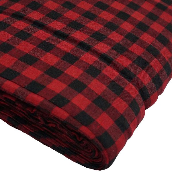 Gingham Black and Red Parna (Turban) 1