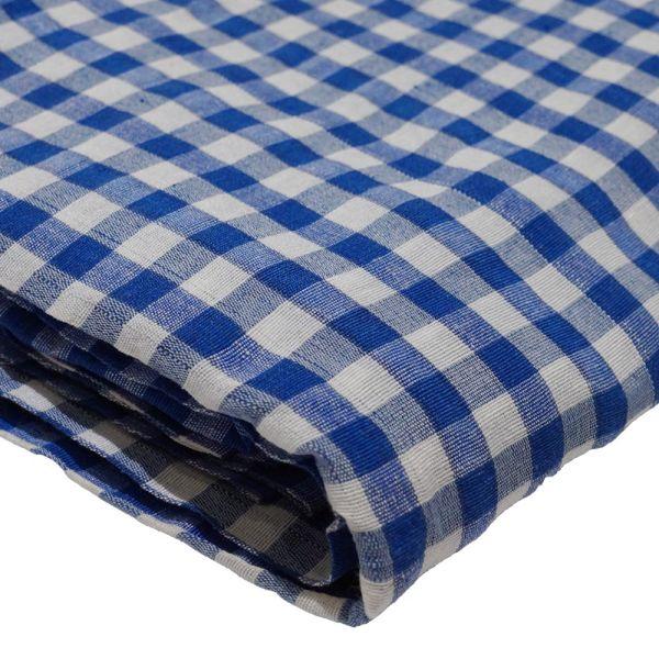 Gingham Blue and White Parna (Turban) 1