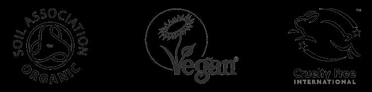 Certified Organic, Vegan & Cruelty Free