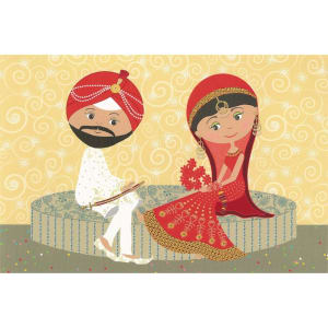 Wedding Card - Traditional Couple