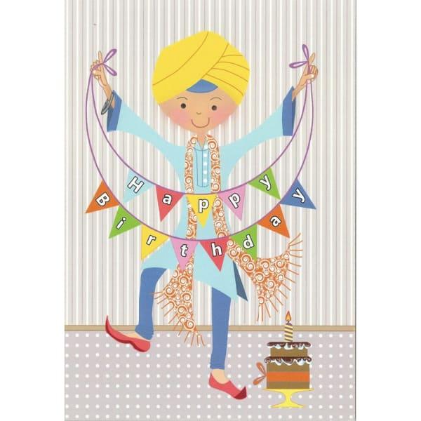 Happy Birthday Card – Singh Bunting 1