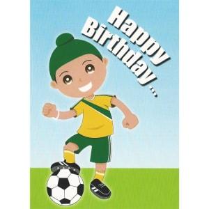 Happy Birthday Card - Singh Football