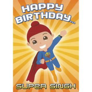 Happy Birthday Card - Super Singh