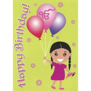 Happy Birthday Card - Kaur Balloons