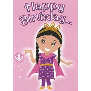 Happy Birthday Card - Kaur Princess