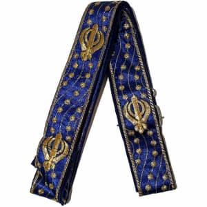 Decorative Blue and Gold Khanda Gatra