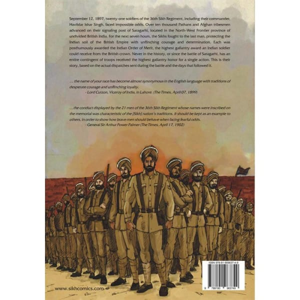 The Battle of Saragarhi Graphic Novel 4