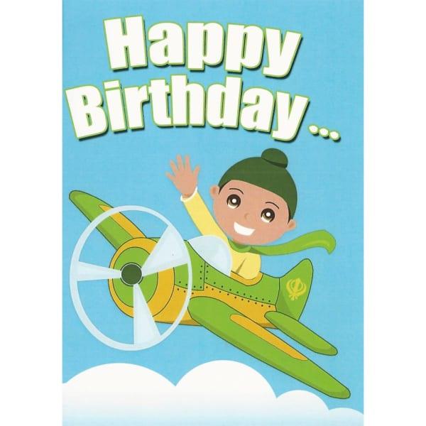 Happy Birthday Card – Singh Aeroplane 1