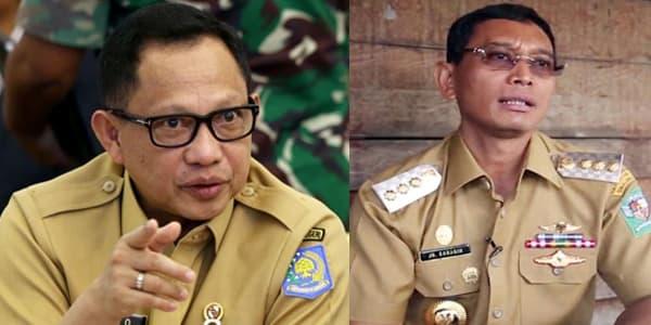Mendagri Tito Karnavian dan Bupati Simalungun JR Saragih