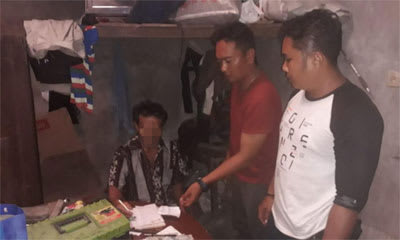 OT saat diamankan personel unit Jatanras Polres Simalungun, Sabtu 22 Pebruari 2020.