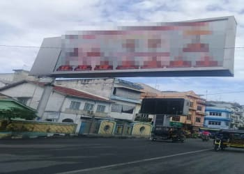 Salah satu baliho kandidat Pilgubsu terpasang di inti Kota Tebing Tinggi.