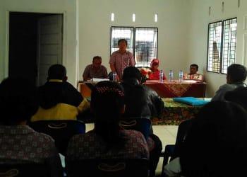 Suasana Musrenbang di Kantor Pangulu Nagori Sibuntuon, Kamis (18/1).