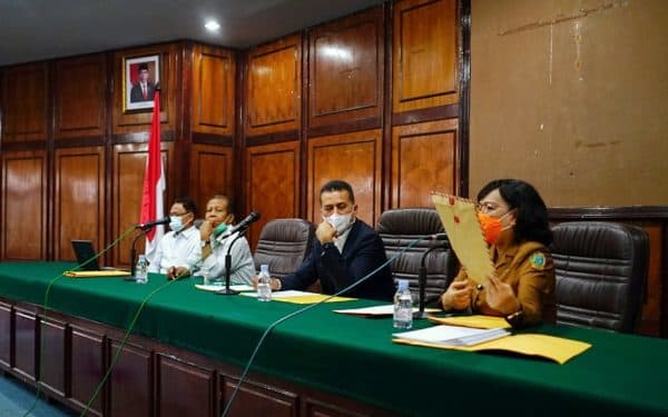 Wagub Sumut Musa Rajekshah membuka dan memberikan arahan pada 21 peserta seleksi Dirut PDAM Tirtanadi di Aula Gedung Bina Graha Pemprov Sumut, Jalan Pangeran Diponegoro Nomor 21 A Medan.
