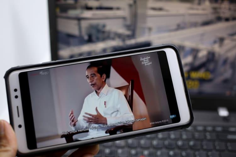 Presiden Joko Widodo memberikan keterangan pers di Jakarta, Senin, 28 Desember 2020. DOK. KPCPEN