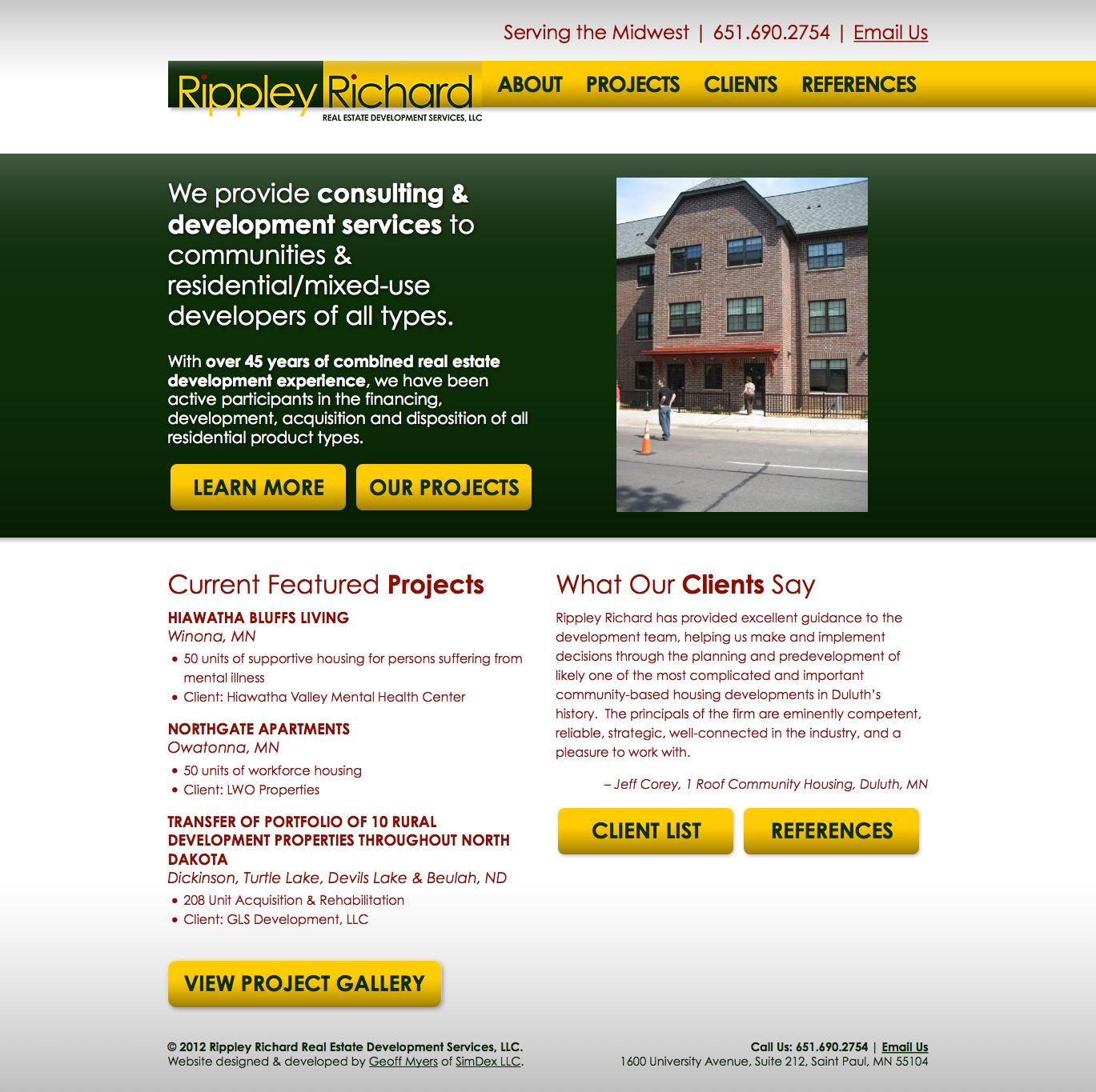 Rippley Richard Real Estate Development Services Simdex