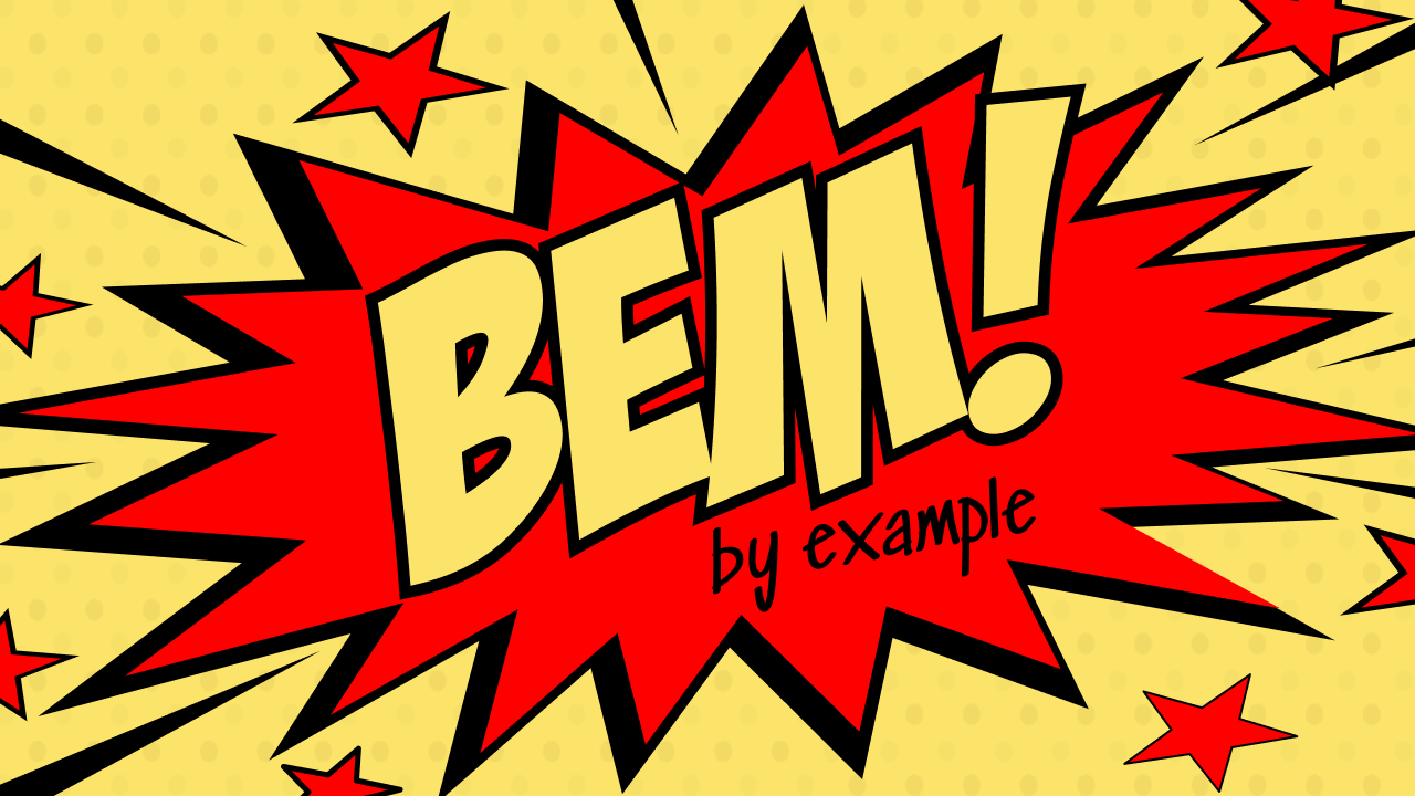 Header image of CSS Structure with BEM in a real-world Example