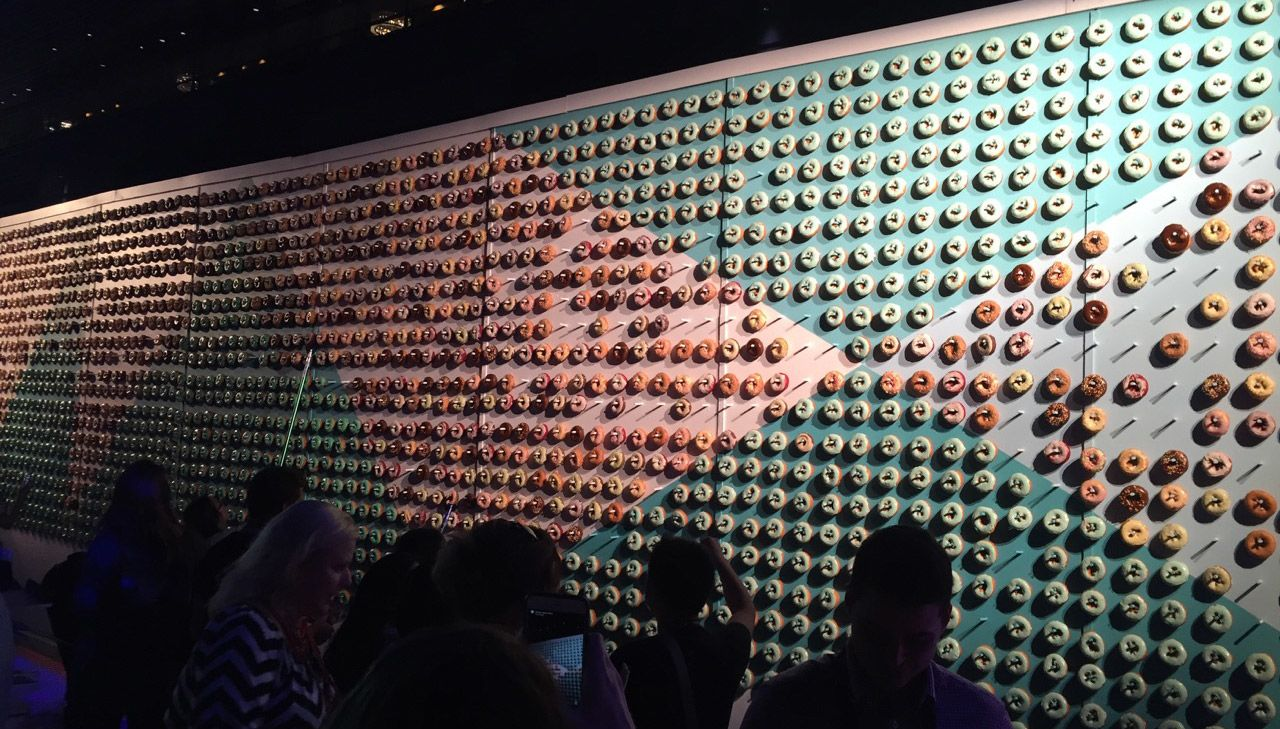 adobe max wall of donuts