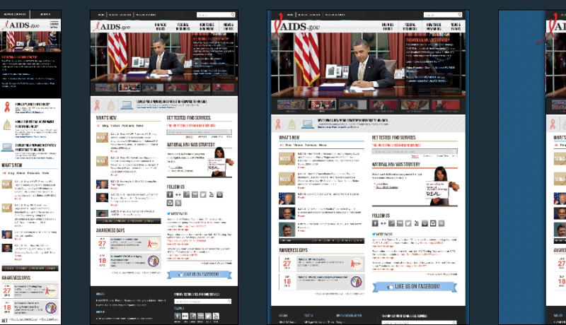 Aids.gov on multiple viewports