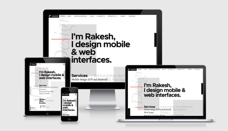 Rakesh Design Portfolio RWD Example