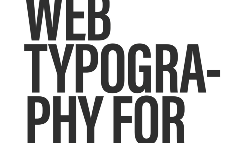 Better Web Typography for a better web