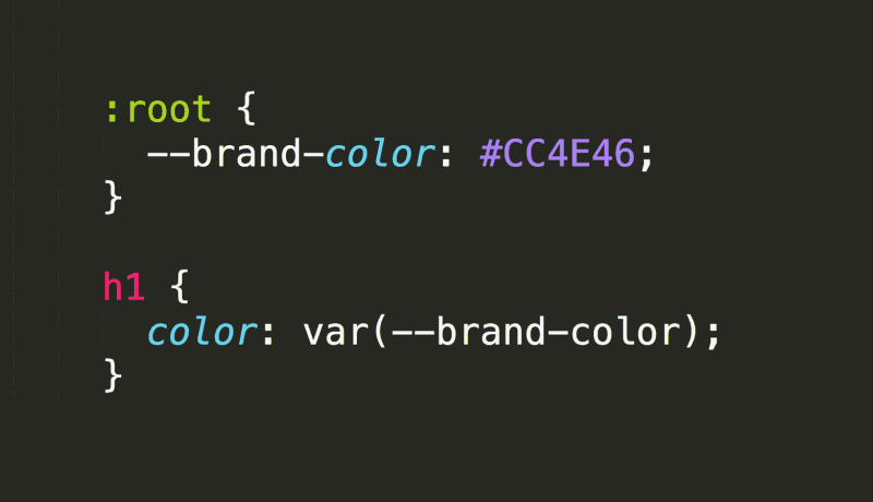 CSS Variable Example