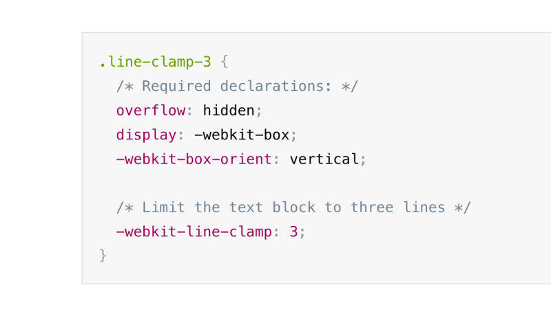 CSS Line Clamp