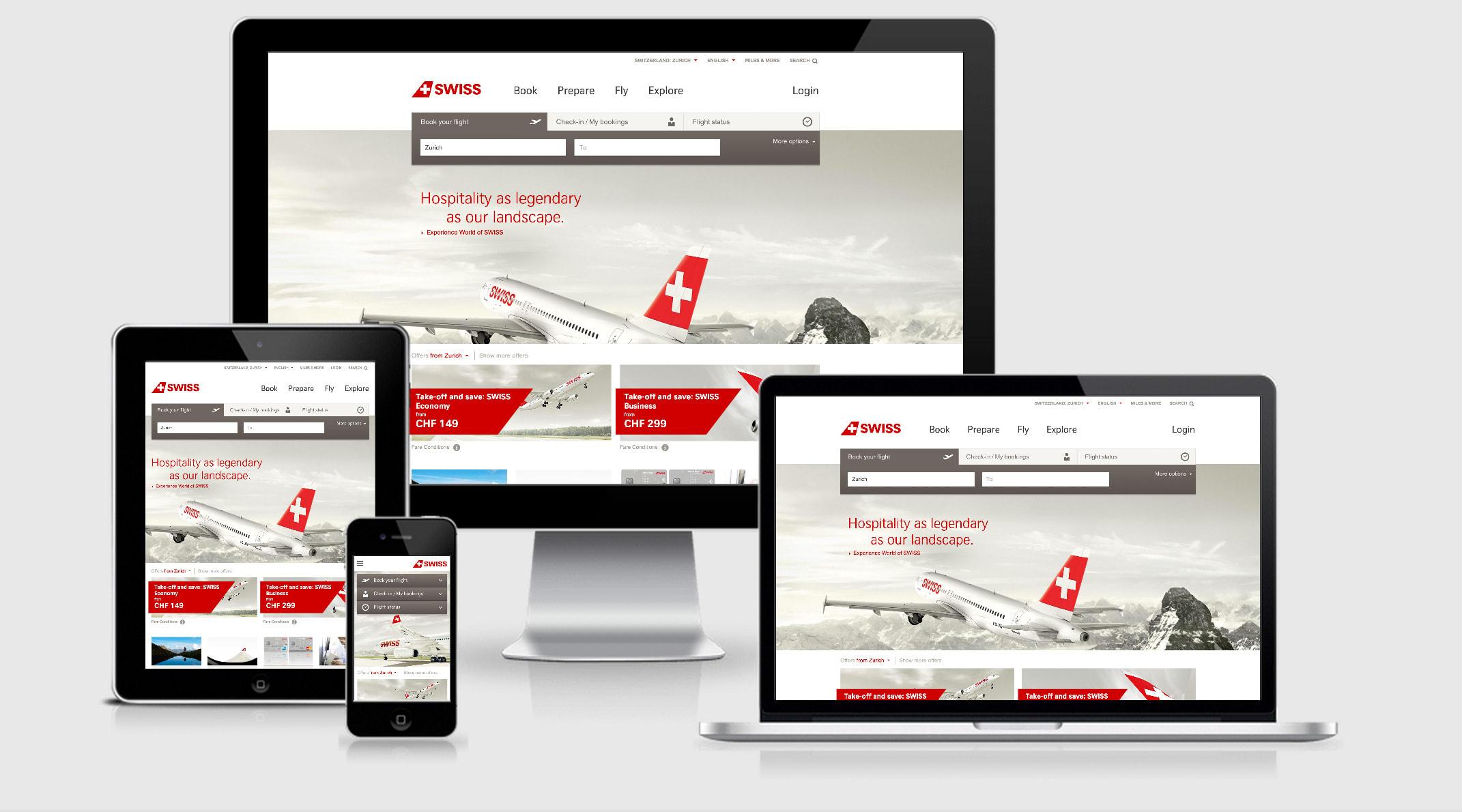 Swiss Air Responsive Website