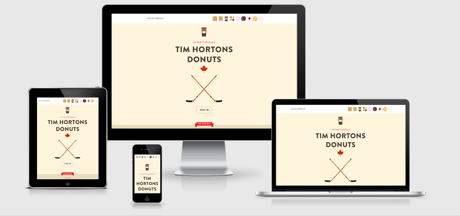 More Donuts responsive Design example