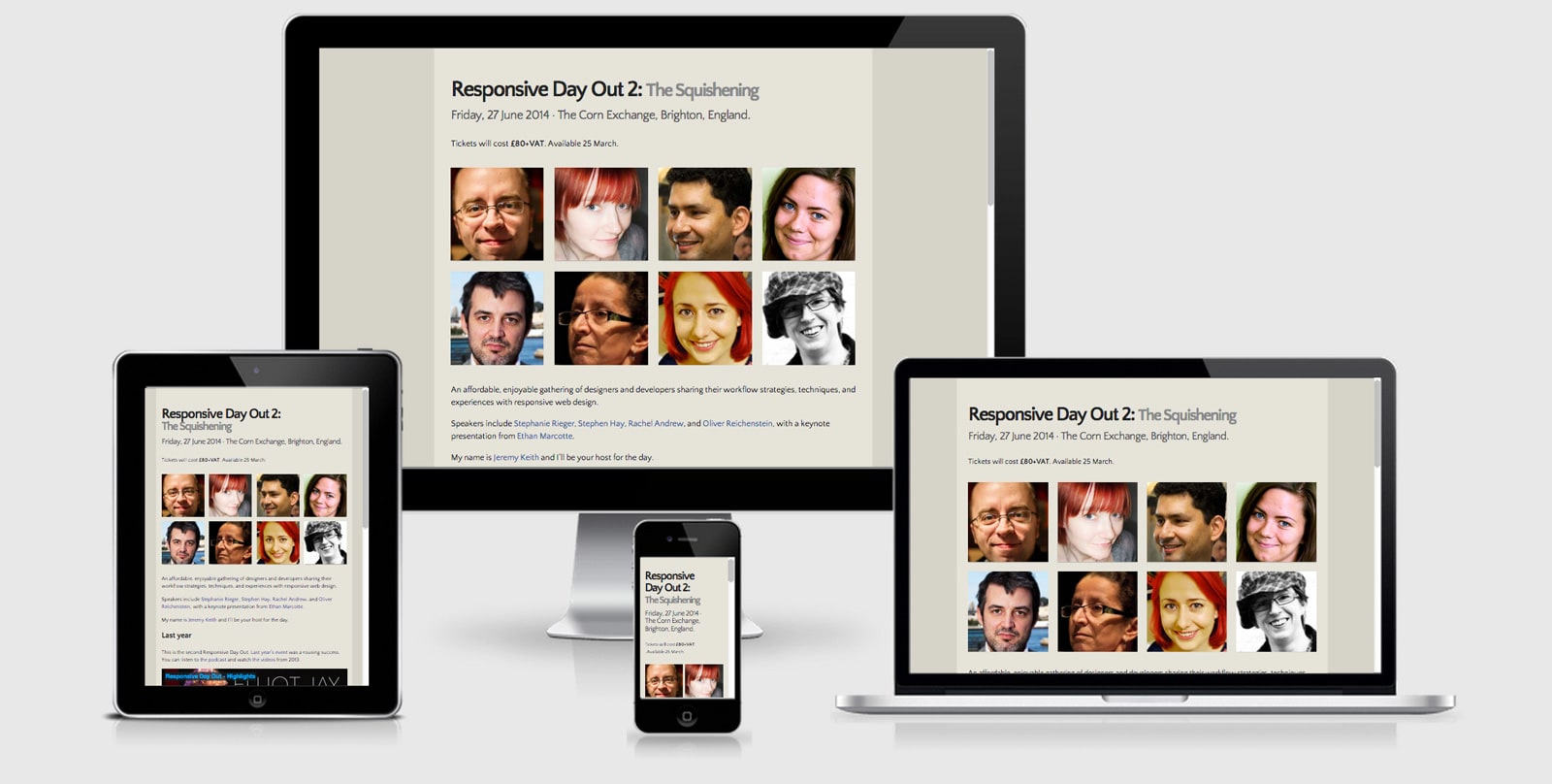 Responsive Day out Screen shots