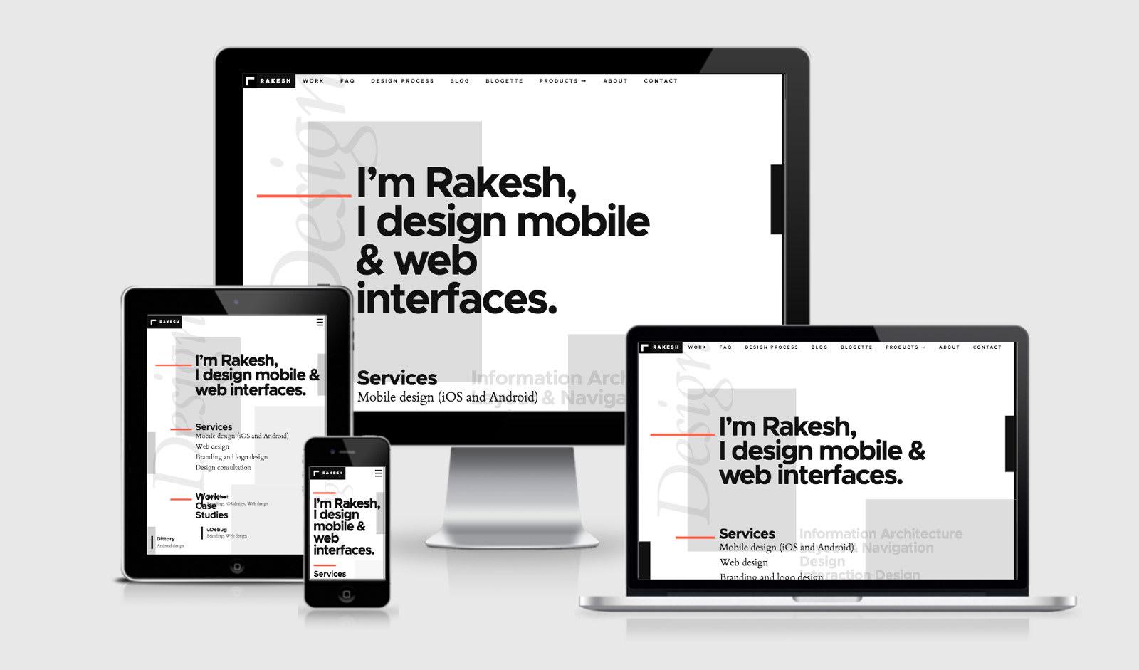 Rakesh Design Portfolio RWD Example