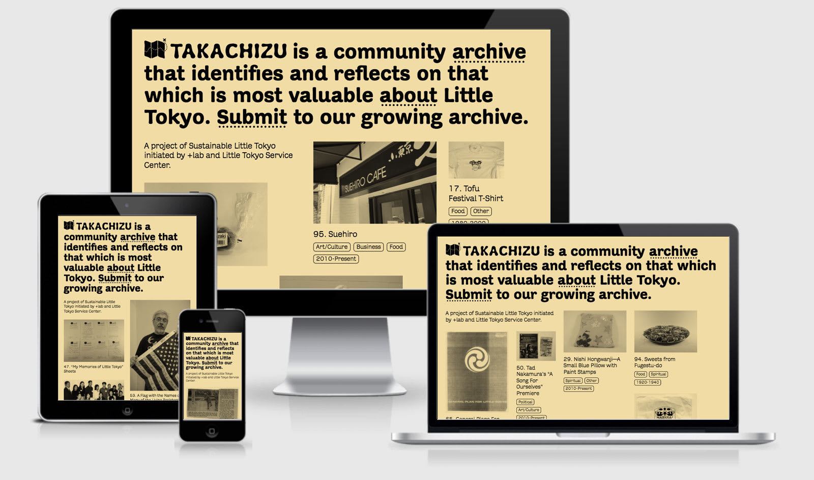 Takachizu across four responsive viewports